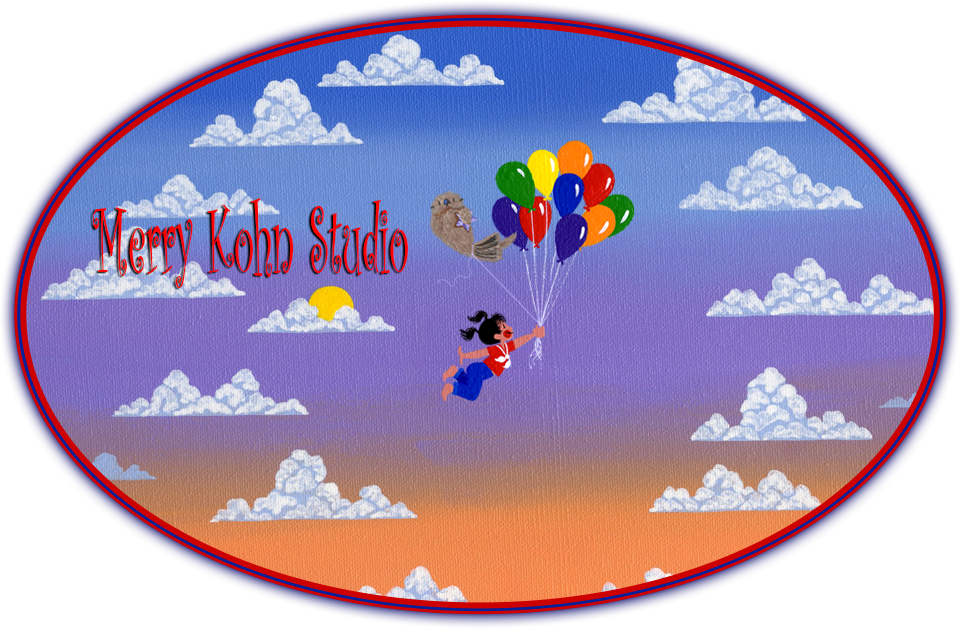 Merry Kohn Studio balloon girl